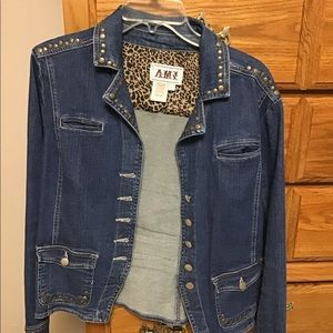 Jean jacket by AMI Sz L. Bronze rivets.